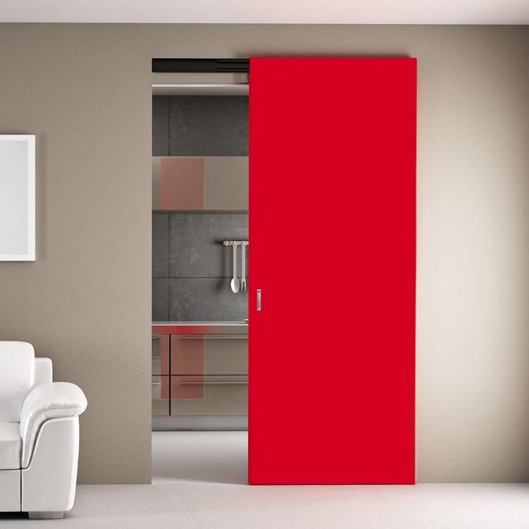 Porte interne design italiano gr serramenti di gallarate for Decoration porte rouge