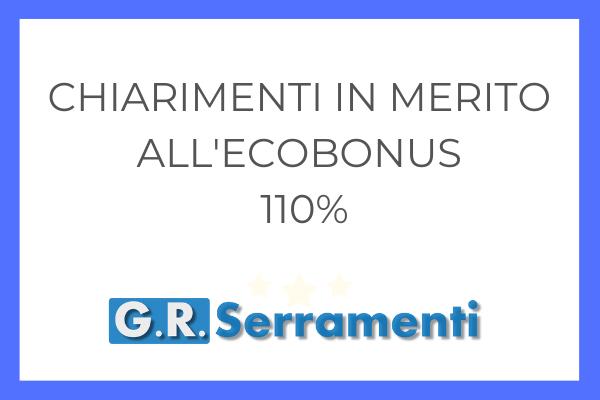 Chiarimenti in merito all'Ecobonus del 110%